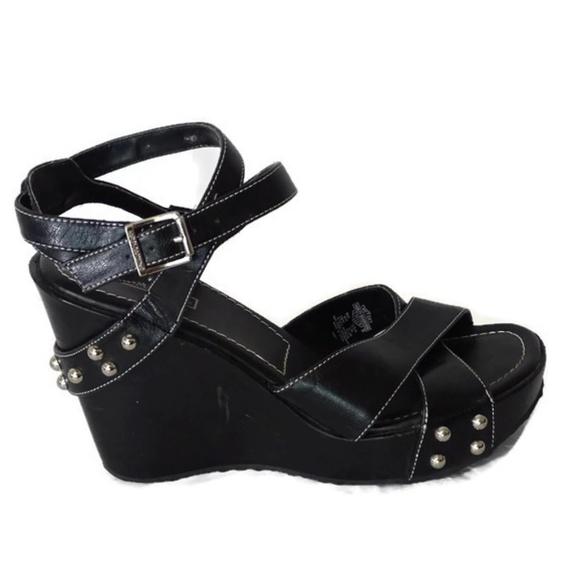 5da8e0145dddaf Harley-Davidson Shoes - Harley-Davidson Sandals Size 8M Black Studded